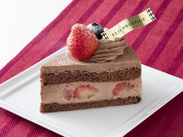 苺のチョコショートケーキ