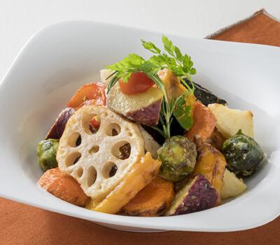 からだ温める 生姜&根菜の焼き野菜サラダ