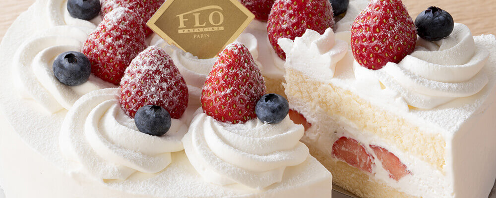 FLOの極上苺のショートケーキ